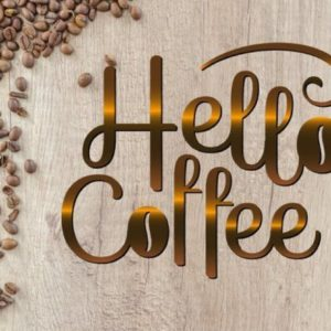 Coffee SVG File for Cricut Saying Hello Coffee Clipart Gift Cup Mug