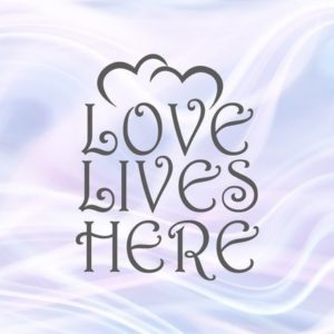 Love Lives Here SVG Home Wall Hanging Family SVG Lettering House Print Silhouette