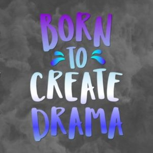 Girl Quote SVG Files for Cricut Saying Born to Create Drama Queen Print Cut Mug