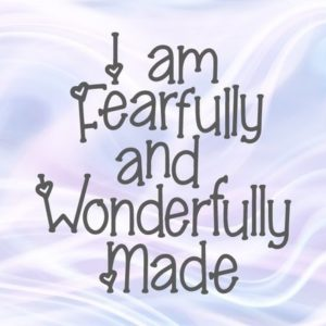 Inspirational Files for Cricut I am Fearfully and Wonderfully Made SVG Religious Christian