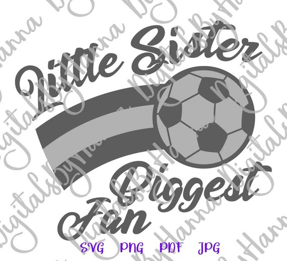 Little Sister SVG Biggest Fan Proud Girl Sport Player Ball Shirt Sign Word Print