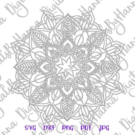 Mandala SVG Files for Cricut Print Design Silhouette Dxf Laser Cut