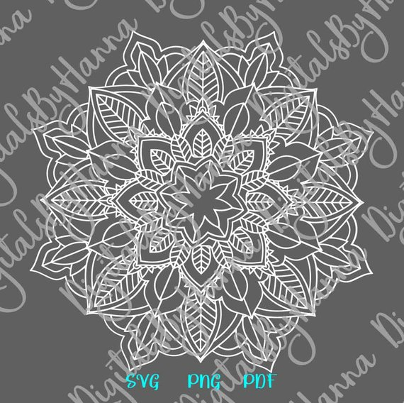 Mandala SVG Pochoir Zentangle Circle Woman Tumbler Laptop