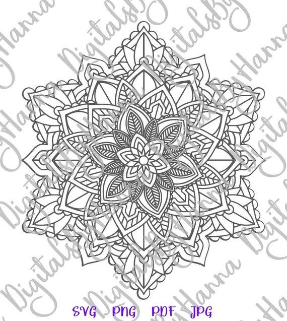 Mandala SVG Vector clipart Stencil Circle Sticker Print Design