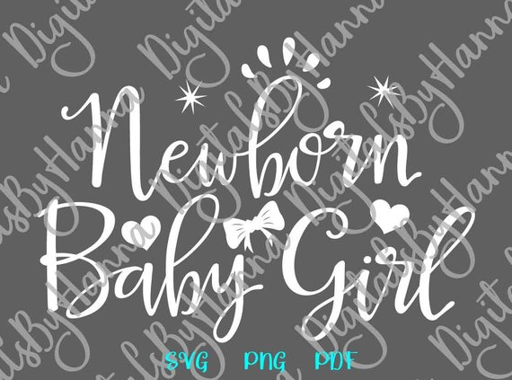 New Baby SVG Newborn Girl Coming Take Home Outfit Onesie Shower Sign Word Print