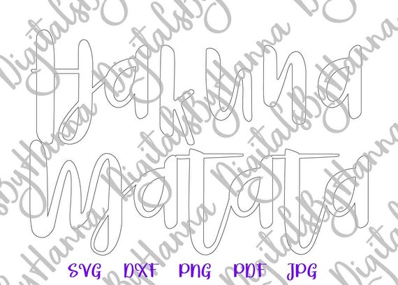 Nursery SVG Hakuna Matata Outfit Silhouette t-Shirt Tee Laser Cut Dxf