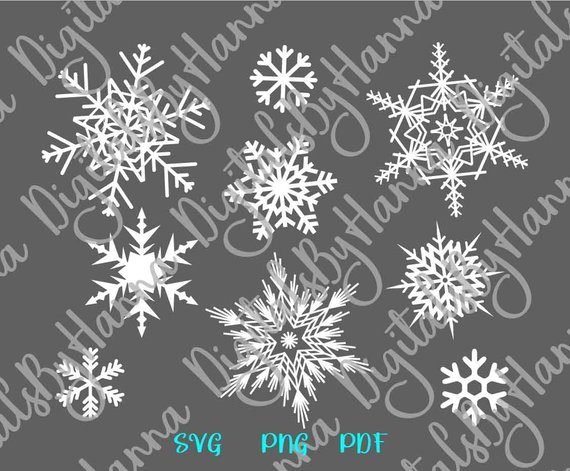 Snowflakes SVG Happy New Year 2019 Print Decoration Circle Mandala