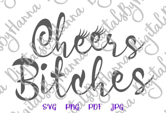 Bachelorette SVG Cheers Bitches Bride Tribe Team Squad Wedding Bridal Shower DXF Laser Cut