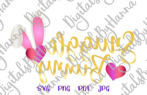 Easter SVG Saying Snuggle Bunny SVG Ears Hearts Clipart Onesie Print Cut