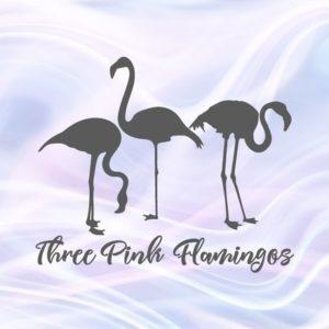 Flamingo SVG Files for Cricut Tropical Clipart 3 Pink Three Summer graphics Print