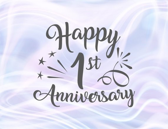 Happy 1st Anniversary SVG File for Cricut Cotton Paper Wedding First One Year