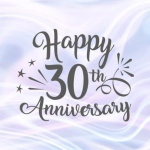 Happy 30th Anniversary SVG Pearl Wedding Thirty Gift Greeting Silhouette