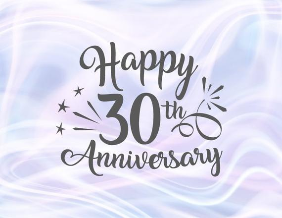 Happy 30th Anniversary Svg Pearl Wedding Thirty Gift Greeting