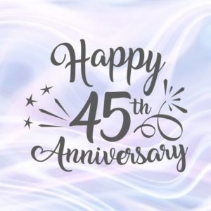 Happy 45th Anniversary SVG Files for Cricut Sapphire Wedding Forty Five Years Gift