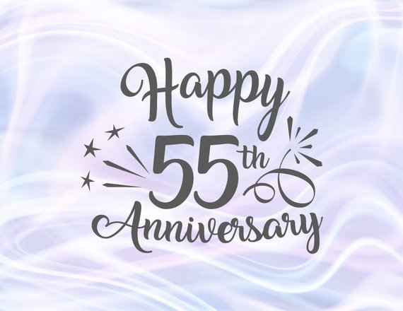 Happy 55th Anniversary SVG Emerald Wedding Fifty Five Years Gift