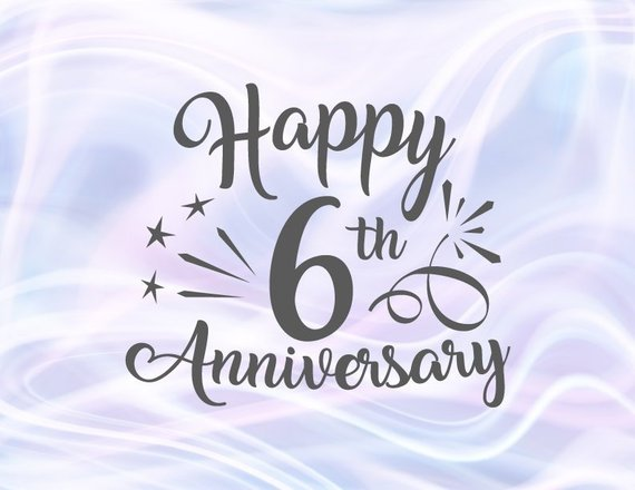6 Wedding Anniversary Gift: Happy 6th Anniversary SVG Sugar Wedding Sixth Years Gift