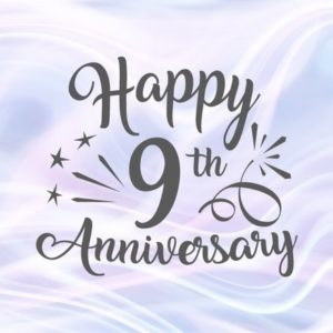 Happy 9th Anniversary SVG Files for Cricut Pottery Copper Wedding Nine Years