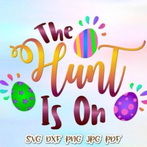 Happy Easter SVG The Hunt is On Egg Clipart t-Shirt Baby Onesie