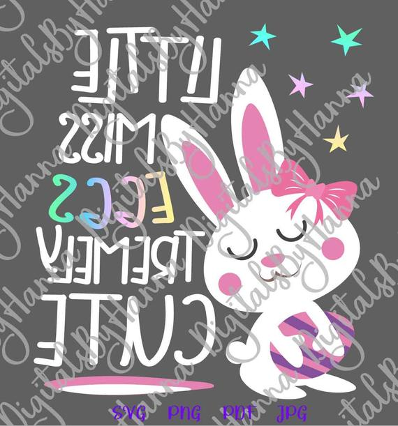 Happy Easter SVG Files for Cricut Little Miss Eggstremely Cute Egg Girl Bunny t-Shirt