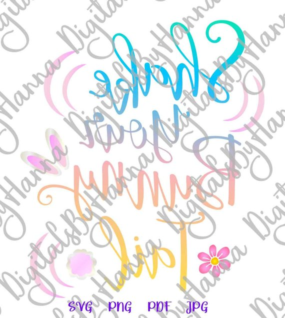 Happy Easter SVG Files for Cricut Saying Shake Your Bunny Tail Cute Word Sign Tee Cut