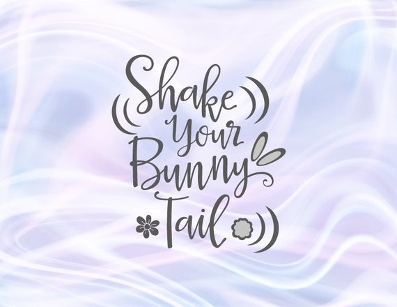Happy Easter SVG Files for Cricut Saying Shake Your Bunny Tail Baby Onesie Clipart