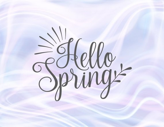 Inspirational SVG Saying Hello Spring SVG Clipart t-Shirt Sign Hand Lettering Print