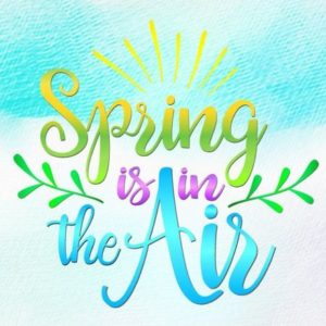 Inspirational SVG Saying Spring is in The Air SVG Clipart t-Shirt Letter Print