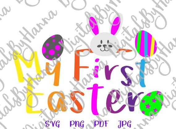 My First Easter SVG 1st Bunny Clipart Onesie tShirt Design Print DXF Cut