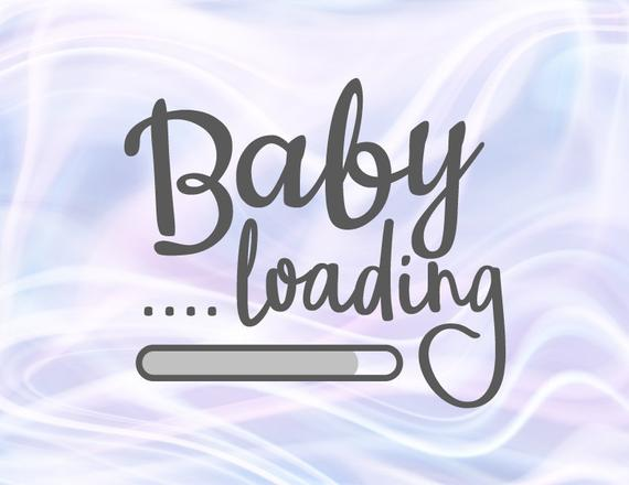 Pregnant SVG Baby Loading Funny Clothes Print Birth Announcement Pregnancy