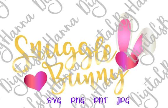Snuggle Bunny SVG Ears Hearts Clipart Onesie t-Shirt Sign Tee tShirt Print