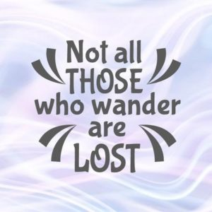 Wanderlust SVG Not All Those Who Wander are Lost Inspirational tShirt Letter Clipart