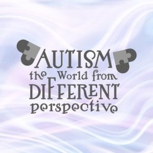 Autism the World from different Perspective SVG Files for Cricut Awareness Shirt Heart Puzzle