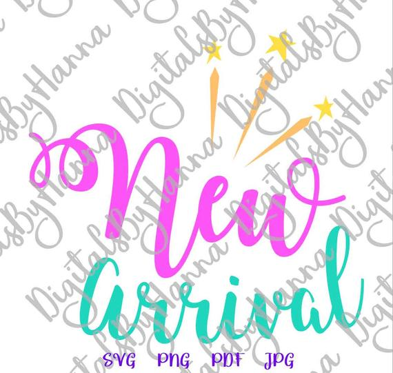 Baby Onesie New Arrival SVG ivf Quote Word Print Newborn Take Home Clipart