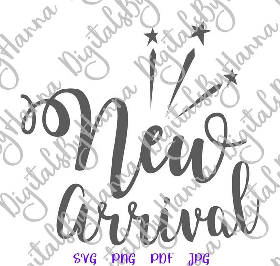 Baby Onesie SVG File for Cricut Saying New Arrival ivf Quote Print Newborn Take Home Laser Cut