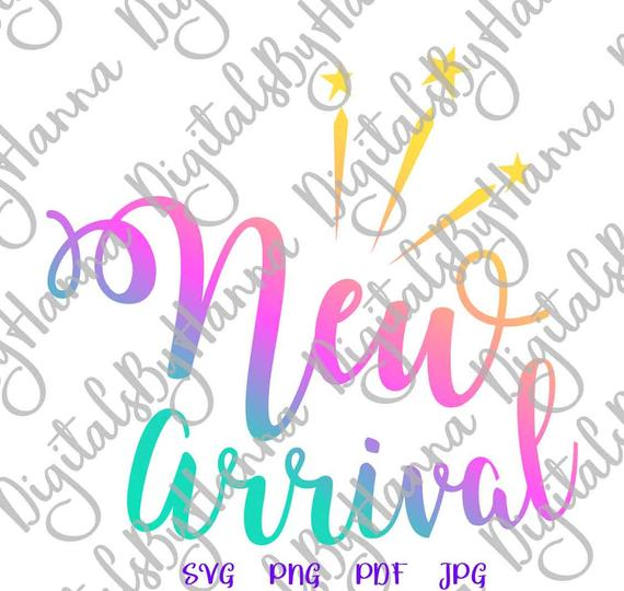 Baby Onesie SVG Files for Cricut New Arrival ivf Quote Saying Print Newborn Sign Take Home