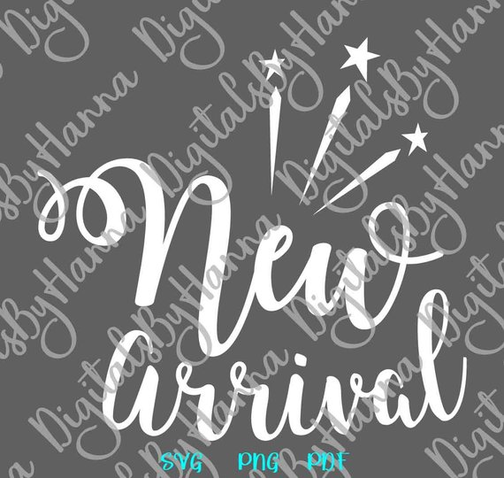 Baby Onesie SVG New Arrival ivf Print Newborn Sign Take Home outfit Vector Clipart