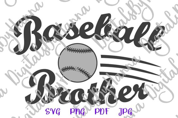 Baseball Brother SVG Bro Sport Player Loud Proud Family Ball t-Shirt Sign Laser Cut