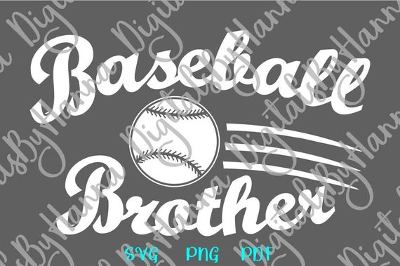 Baseball Brother SVG Bro Sport Player Loud Proud Family Ball t-Shirt Word Laser Cut