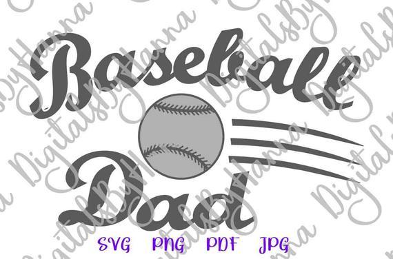 Baseball Dad SVG Father Player Proud Sport Ball t-Shirt Sign Word Laser Cut
