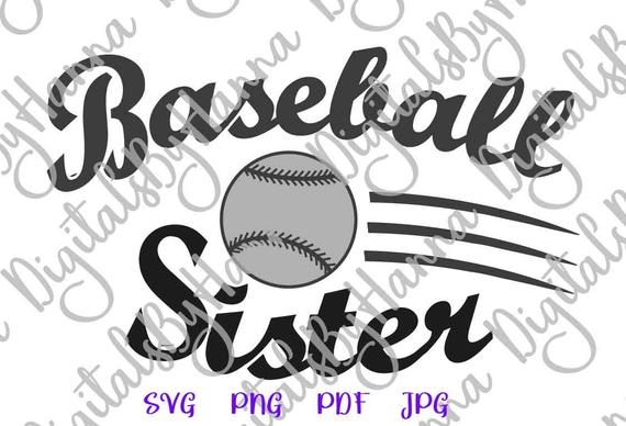 Baseball SVG Sister Loud Proud Sport Player Family Ball Shirt Word Laser Cut