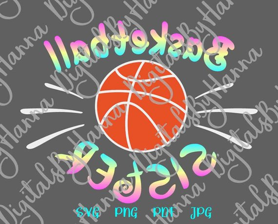 Basketball Sister SVG Loud Proud Sport Player Family Ball Shirt Print Reverse
