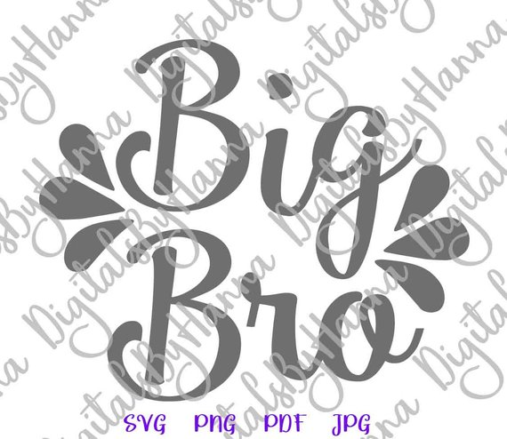 Big Bro SVG Little Sorority Reveal Promoted Brother Clipart Family Baby Birth Announcement