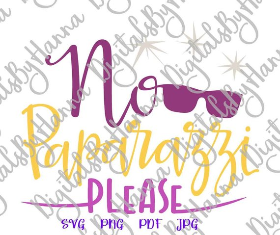 Funny Baby Saying No Paparazzi Please SVG Onesie Take Coming Home Outfit Sign Cut