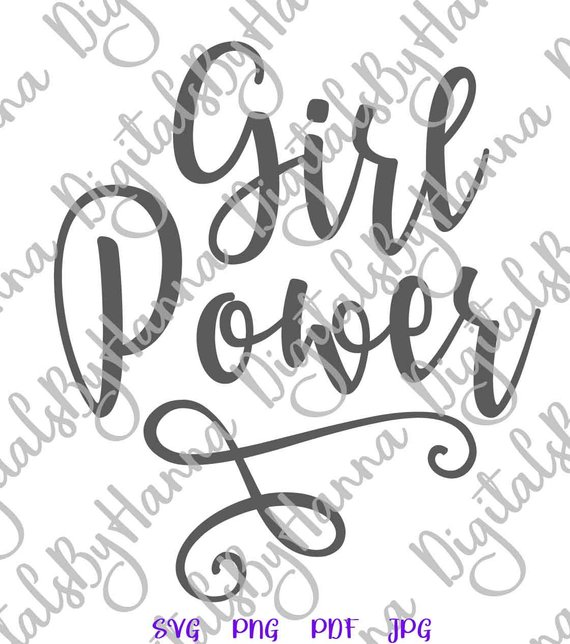 Girl Power SVG Feminism Clipart t-Shirt Sign Lettering Laser Cut Vector