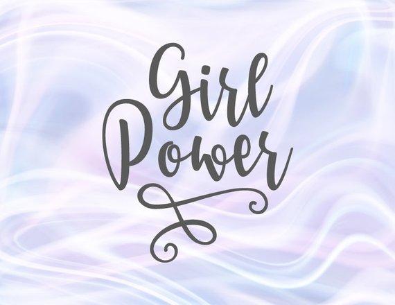 Girl Quotes SVG Girl Power Femenist Clipart t-Shirt Sign Lettering Laser Cut Vector
