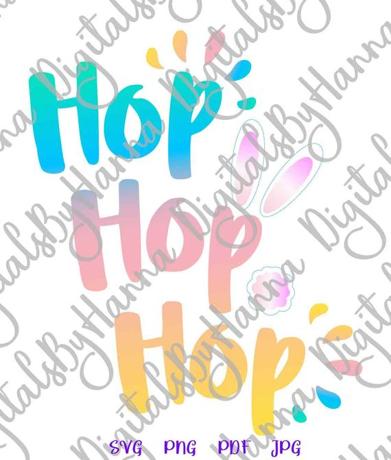 Happy Easter Svg File For Cricut Hop Hop Hop Bunny Tail Cute T Shirt Baby Onesie Svg Files For Cricut
