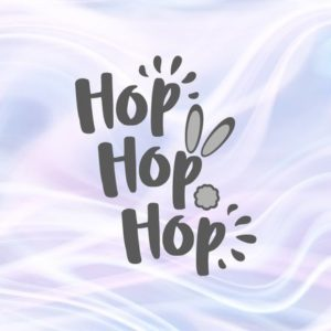 Happy Easter SVG File for Cricut Saying Hop Hop Hop Bunny Tail Cute t-Shirt Baby Onesie Word Sign Tale