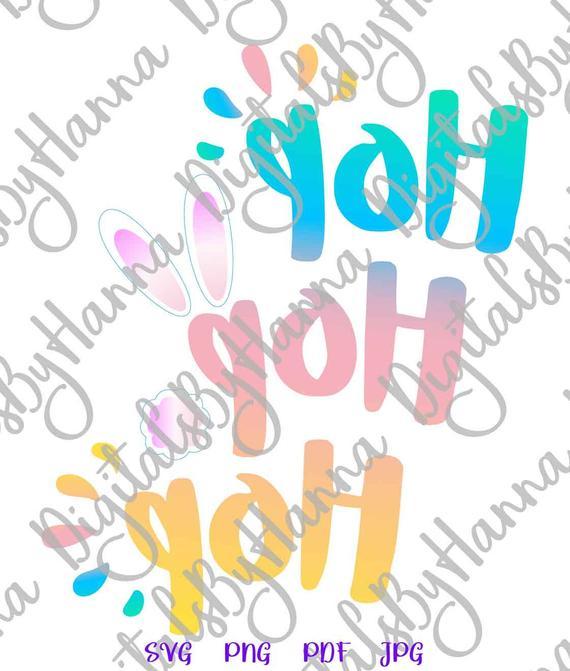 Happy Easter SVG Saying Hop Hop Hop Bunny Cute t-Shirt Baby Onesie Word Sign tShirt Print