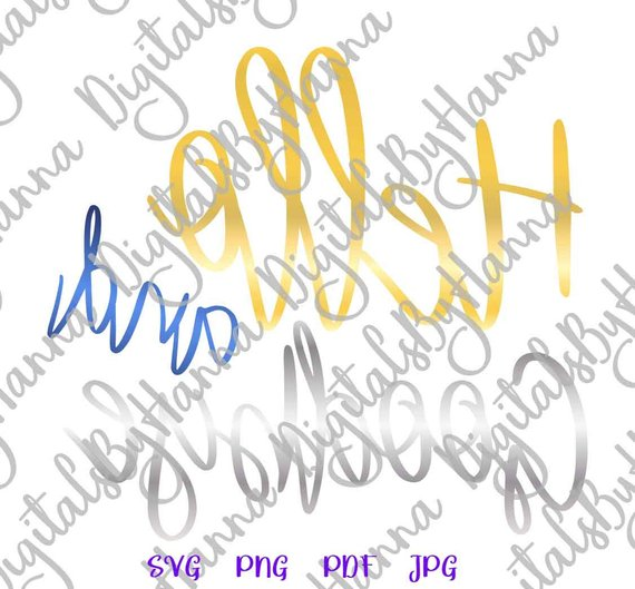 Introvert Clipart SVG Hello and Goodbye Let's Stay Home Cut Print Sublimation Graphics