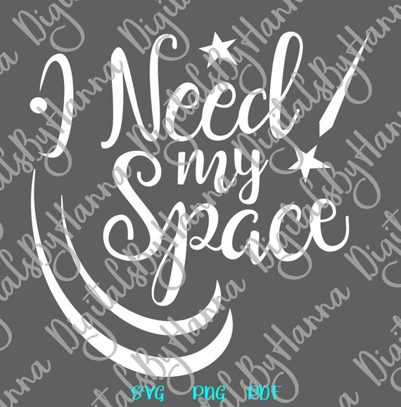 Introvert I Need My Space SVG Funny Quote Let's Stay Home Sign t-Shirt Tee Word